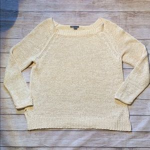 VINCE Knit Sweater Size M Cream B3